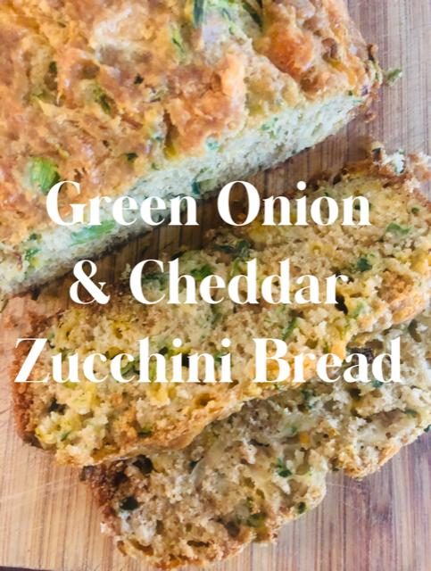 Green Onion and Cheddar Zucchini Bread